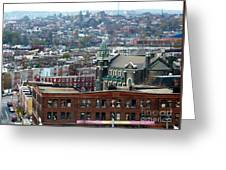 Baltimore Rooftops Greeting Card by Carol Groenen