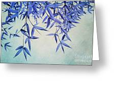 bamboo susurration Greeting Card by Priska Wettstein