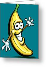 Banana Greeting Card by Kevin Middleton