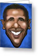 Barack Obama Greeting Card by Kevin Middleton