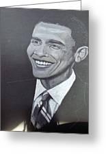 Barack Obama Greeting Card by Richard Le Page