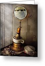 Barber - The Morning Shave  Greeting Card by Mike Savad
