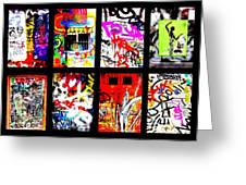 Barcelona Doors ... All Graffiti Greeting Card by Funkpix Photo Hunter