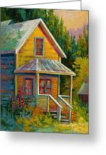 Barkerville Orphan Greeting Card by Marion Rose