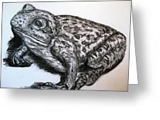 Barking Frog From Guangzhou Greeting Card by Joy Neasley