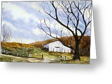 Barn At The Stage Stop Greeting Card by Travis Kelley