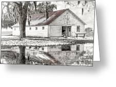 Barn Reflection Greeting Card by Scott Hansen
