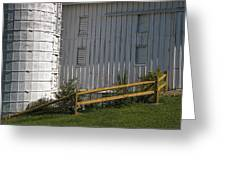 Barn Silo And Split Rail Fence By William Sturgell