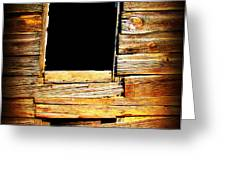 Barn Window Greeting Card by Perry Webster