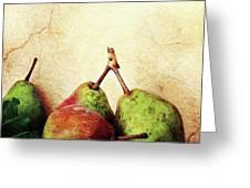 Bartlett Pears Greeting Card by Stephanie Frey
