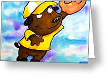 Baseball Dog 4 Greeting Card by Scott Nelson
