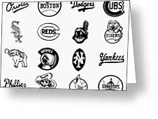 Baseball Logos Greeting Card by Granger