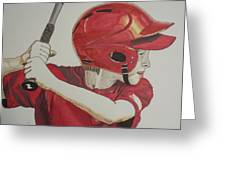 Baseball Ready 2 Greeting Card by Michael Runner