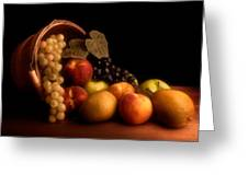 Basket Of Fruit Greeting Card by Tom Mc Nemar