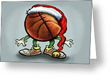 Basketball Christmas Greeting Card by Kevin Middleton