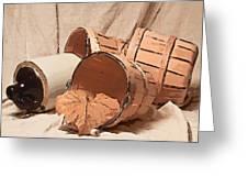 Baskets With Crock II Greeting Card by Tom Mc Nemar