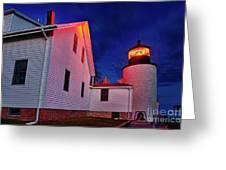 Bass Harbor Lighthouse Maine Greeting Card by John Greim
