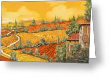Bassa Toscana Greeting Card by Guido Borelli