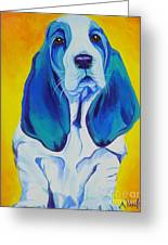 Basset - Ol' Blue Greeting Card by Alicia VanNoy Call