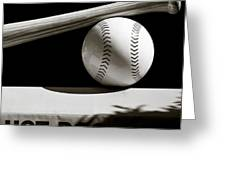 Bat And Ball Greeting Card by Dave Bowman