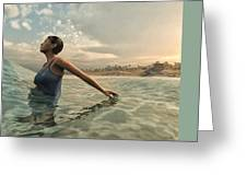 Bather Greeting Card by Cynthia Decker