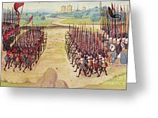 Battle Of Agincourt, 1415 Greeting Card by Granger