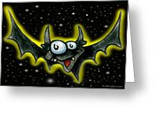 Batty Greeting Card by Kevin Middleton