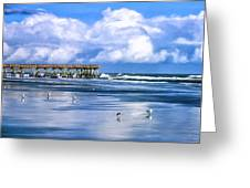 Beach At Isle Of Palms Greeting Card by Dominic Piperata
