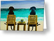 Beach Bums Greeting Card by Roger Wedegis