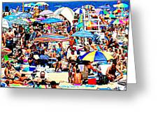 Beach Chaos Greeting Card by Diana Angstadt