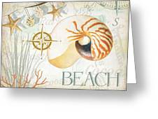 Beach Collage Greeting Card by Grace Pullen