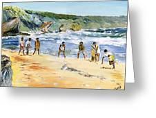 Beach Cricket Greeting Card by Richard Jules