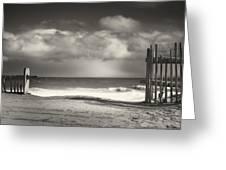 Beach Fence - Wellfleet Cape Cod Greeting Card by Dapixara Art