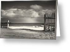 Beach Fence - Wellfleet Cape Cod Greeting Card by Dapixara Art