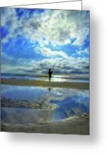 Beach Fisherman Greeting Card by Randy Steele