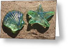 Beach Glass Greeting Card by Cindy Lee Longhini