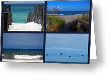 Beach Multiples Greeting Card by Susanne Van Hulst