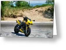 Beach Road Buell Greeting Card by Michelle Calkins