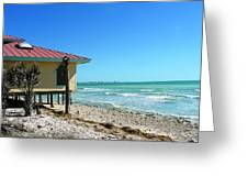 Beach Shack Greeting Card by Peter  McIntosh