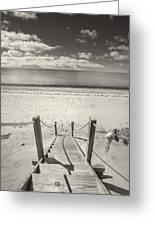 Beach Stairs Wellfleet Greeting Card by Dapixara Art