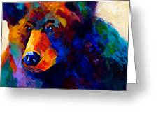 Beary Nice - Black Bear Greeting Card by Marion Rose