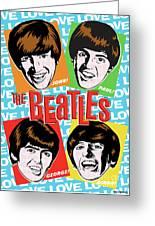 Beatles Pop Art Greeting Card by Jim Zahniser
