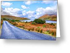 Beautiful Irish Countryside Of County Galway Greeting Card by Mark E Tisdale