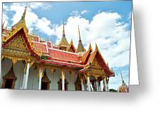 Beautiful temple Greeting Card by Somchai Suppalertporn