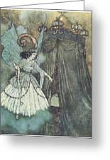 Beauty And The Beast Greeting Card by Edmund Dulac