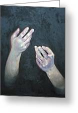 Beckoning Hands Greeting Card by Douglas Manry