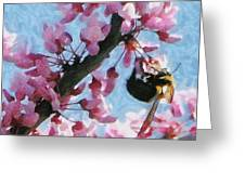Bee To The Blossom Greeting Card by Jeff Kolker