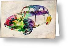 Beetle Urban Art Greeting Card by Michael Tompsett