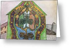 Belfast Mural Greeting Card by Brett Genda