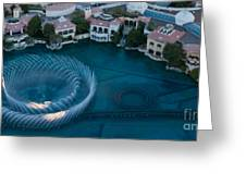 Bellagio Shoreline Greeting Card by Andy Smy